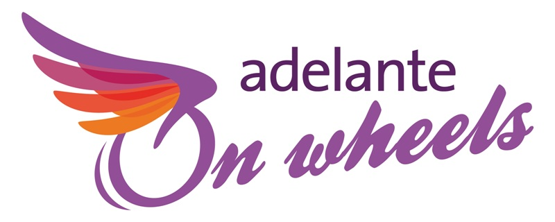 Logo Adelante on wheels groot